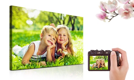 Personalised Canvas Print from Printerpix (Up to 80% Off)