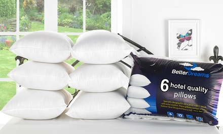 Six Better Dreams Non Allergenic Fibre Filled Pillows