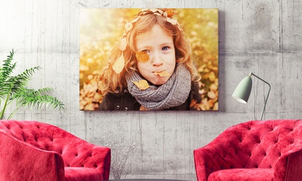 Personalised Photo Canvas in a Choice of Size from Printerpix (Up to 80% Off)