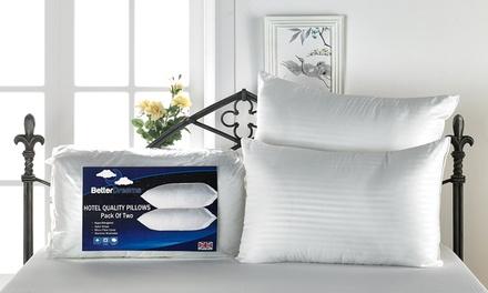 Four Hotel-Quality Extra Plump Satin Stripe Pillows