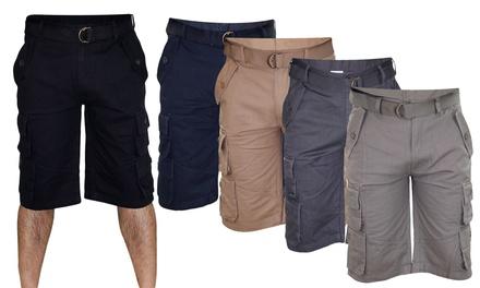 True Face Mens Bermuda Cotton Cargo Shorts