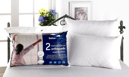 Two, Four or Six Memory Foam Core Pillows
